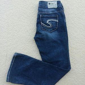 SILVER Suki Curvy Straight Leg Jeans 29 x 32